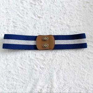 Loft Wide Stretch Navy White Belt Size XS Small